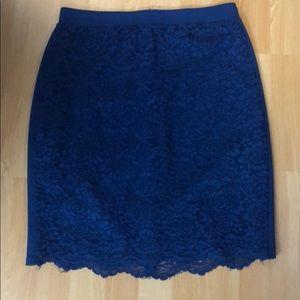 Forever 21 Blue Lace Skirt